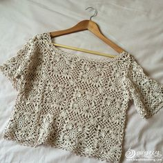Loving the squares 1 Crochet Blouse, Crochet Top, White Cotton Blouse, Crochet Diagram, Crochet Fashion, Top Pattern, Crochet Clothes, Boho Chic, Clothes For Women