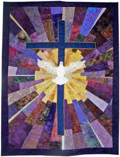 Longtime EQ user, Jo Moury, designed and made this gorgeous quilt a few years ago. She posted it to the EQ Quilt Gallery and over the years more and more folks continued to ask Jo for the pattern! Christian Symbols, Christian Art, Christian Crosses, Religion, Quilting Projects, Quilting Designs, Church Banners Designs, Holy Art, Celtic