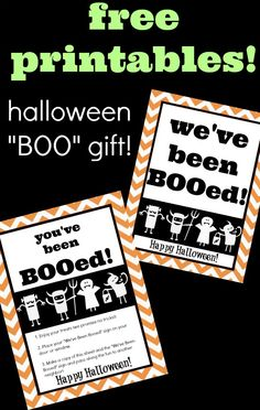 super cute free You've Been BOOed printables for Halloween!
