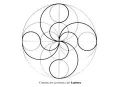 Lauburu: each arm can be drawn with three sweeps of a compass http://en.wikipedia.org/wiki/Lauburu
