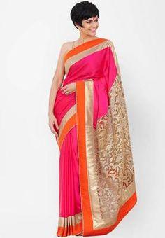 Mandira Silk Rani Pink Saree Silk Sarees