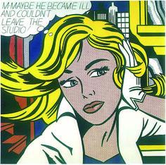 Peinture contemporaine - Roy Lichtenstein - M-Maybe