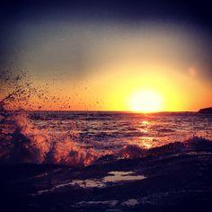 Alsio beach in Laguna Beach, CA sunset