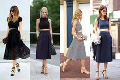 2014 Fashion Trends | fashion bloggers, crop top, spring summer 2014 trend, midi trend ...