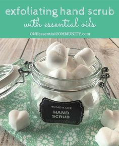 Exfoliating Hand Scrub Hearts {with Epsom salt and essential oil}