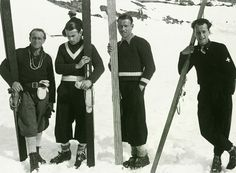 Italian Alpine Ski Team Photo Poster  Vintage Fine Art Giclee Print