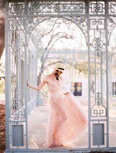 Garden bridal with a delightfully whimsical pink dress | Austin Bridal Inspiration Blush Pink Weddings, Romantic Weddings, Elegant Wedding, Blush Wedding Stationery, Pink Wedding Invitations, Bridal Shoot, Wedding Styles, Wedding Ideas, Pink Dress