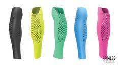 Tecnoneo: Cubierta para prótesis de pierna impresa en 3D de diseño moderno