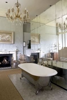 The claw foot bath tub, a vintage must! This bathroom is just stunning. If my bathroom was like this I don't think I'd ever leave haha!