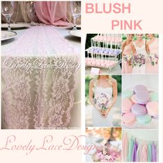Lovely Blush Pink Lace Table Runner!!