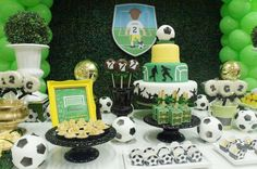 Soccer  Birthday Party Ideas | Photo 1 of 6 -possibly rice crispy pops?