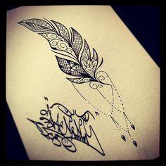 #feathertattoo #lacetattoo #hoorn #zwaag #girlswithtattoos #girlstattoo #girls #loveit #dannyvanderbeek #tattoo #drawing
