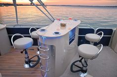 The All Inclusive Luxury Motor Yacht Charter Pontoon Boat Party, Pontoon Boat Seats, Pontoon Stuff, Boot Dekor, Pontoon Boat Furniture, Pontoon Boat Accessories, Party Barge, Small Yachts, Bay Boats