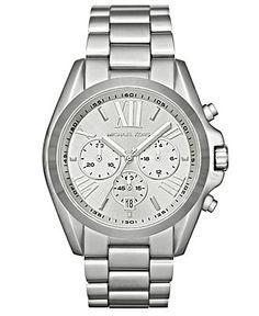 Michael Kors Watch, Women's Chronograph Bradshaw Stainless Steel Bracelet 43mm MK5535 - All Watches - Jewelry & Watches - Macy's