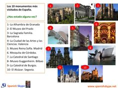 Los 10 monumentos más visitados de España Top ten Spanish monuments