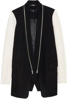 Knit Cashmere Combo Coat