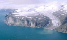 Tongue of a glacier. Northeast coast of Baffin Island north of Community of Clyde River, Nunavut, Canada. Quebec, Southampton, Fun Facts About Canada, Northwest Territories, Newfoundland And Labrador, Sea Level, Canada Travel, Countries Of The World, Earth Science