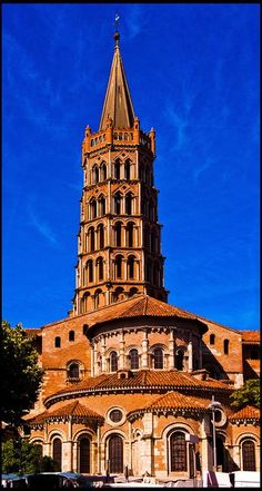 France Travel Inspiration - Basilica Saint Sernin, in Toulouse, France Roman Catholic. Year consecrated:1180 - As well as Saint Saturnin, Saint Honoratus is also buried here. The crypt contains the relics of many other saints. The Basilica of St. Sernin was designated in 1998 because of its significance to the Santiago de Compostela pilgrimage route.