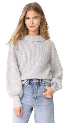 ¡Consigue este tipo de jersey de punto de DEMYLEE ahora! Haz clic para ver los detalles. Envíos gratis a toda España. DEMYLEE Claudette Sweater: A chunky shaker-knit DEMYLEE sweater with a ruffly high neckline. Blouson sleeves and slim, long cuffs. Ribbed hem. Fabric: Shaker knit. 100% wool. Dry clean. Imported, China. Measurements Length: 21.25in / 54cm, from shoulder Measurements from size S (jersey de punto, pullover, lana, knitted, cotton, knit, knits, stitch, cashmere, knitwear…