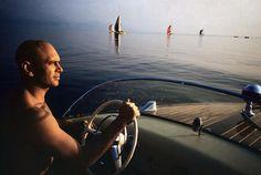 inge morath… yul brynner on holiday, switzerland, 1959 @ magnumphotos Inge Morath, Yul Brynner, Lake Geneva, Magnum Photos, Over Ear Headphones, Movie Stars, Switzerland, Vacation, Movies