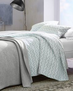 The wholecloth quilt rises again, featuring a beautiful allover graphic print that resembles flames. Offered in an array of soft colors that make it easy to mix and match with other Garnet Hill bedding. Quilted in a classic diamond pattern to hold the lightweight cotton flannel fill in place.