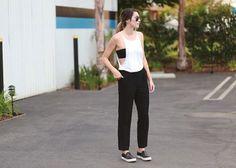 13 Slip-On Sneaker Looks To Copy ASAP | Idea #2: Go full-on minimalist.