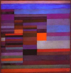 Fire evening, 1929 by Paul Klee, Bauhaus. Media: oil,board 36 x 37cm. #abstract