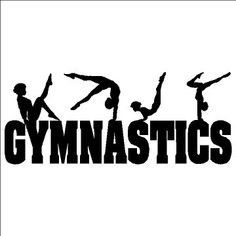 Gymnastics Wall Decal Sticker Removable Art