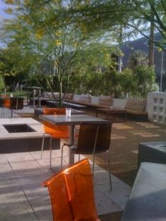 Birba, Palm Springs. Mid-century hipster glam restaurant/lounge & good food.