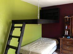 Corner Hanging Loft Bed