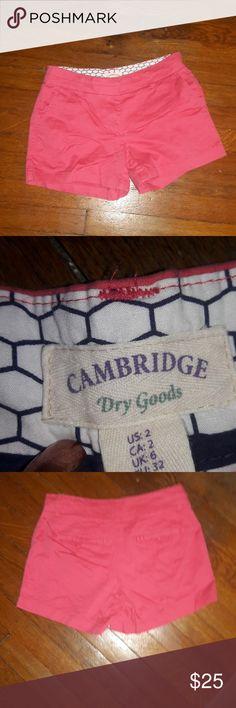 Cambridge Shorts NWOT Cambridge Dry Goods Shorts