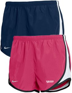 Nike® Xavier University Musketeers Women's Shorts; Get the performance you need for any workout or strenuous activity in these women's shorts. Dri-Fit fabric helps keep you cool and dry. Three stitch elastic waistband. School color accent along short hem. Screen-printed. Xavier University, Musketeers, Women's Shorts, School Colors, Keep Your Cool, College Life, Accent Colors, Gym Shorts Womens, Stitch