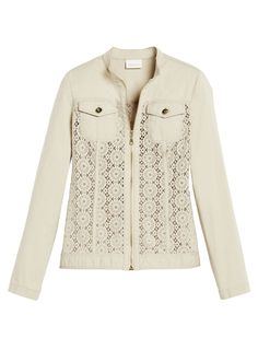 Crocheted Zip-Up Jacket