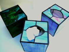 Stained Glass Tissue Box Cover  Handcrafted by CreativeSpiritGlass, $35.00
