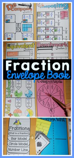 Students make a book about fractions using a 10 x 13 inch envelope. Covers basic fraction concepts for or grade. Also includes fraction games for comparing and ordering. Fraction Games, Fraction Activities, Teacher Resources, Classroom Resources, Second Grade Math, 4th Grade Math, Third Grade, Comparing Fractions, Math Fractions