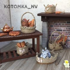 Кукольная миниатюра. Корзинка сделана в масштабе 1:12. Dollhouse miniature. Mini Bascet. Made in scale 1:12. miniature, miniatures, dollhouse, миниатюра, кукольный дом, диорама, diorama, handmade, handmade miniature, dollhouse miniature, кукольная миниатюра, миниатюра ручной работы, basket, корзина, корзиночка, wicker basket, laundry basket, корзина для фруктов, коллекционная миниатюра, авторские игрушки, mini home, румбокс