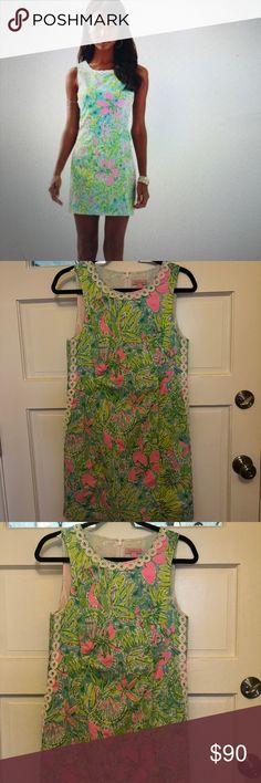 Lilly Pulitzer Mila shift dress Gorgeous Mila Shift dress. Gently worn, just like new. Lilly Pulitzer Dresses