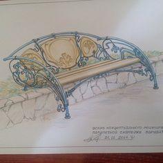 Эскизы – 1 580 фотографий Iron Furniture, Sofa Furniture, Industrial Furniture, Wrought Iron Bench, Metal Drawing, Garden Waterfall, String Art, Metal Working, Art Nouveau