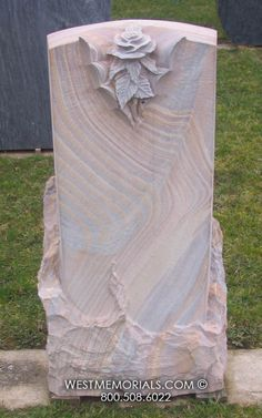 Huntley- Pink sandstone with rose carving