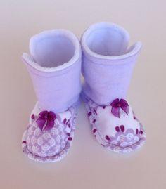 Baby Toddler Fleece Flannel Boot Cozy Comfortable Warm by Sunjunki, $25.00