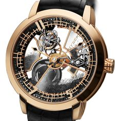 HYSEK IO Skeleton Tourbillon 49mm The IO Skeleton Tourbillion marks a definite evolution of the IO line. The codes on which was founded the collection; an audaciously designed case, classic yet modern