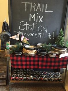 Mix Station from a Rustic Camping Birthday Party via Kara's Party Ideas | KarasPartyIdeas.com (38)