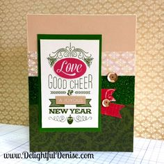 Love this Christmas card from Close To My Heart! I love being a consultant for CTMH.  www.DelightfulDenise.com