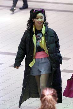 Lana Condor on the set of 'X-Men: Apocalypse'...ahhhh Jubilee I loved her!