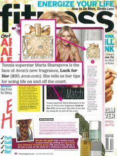 @fitnessmagazine sat down with Maria Sharapova, the face of our new #AvonLuck for Her fragrance in their latest issue!