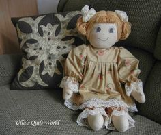 The doll is 65 cm (25 inches) long.               Enlarge the pattern about 200%