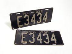 1938 License Plates