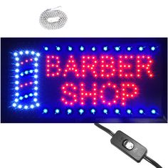 """Bright Animated LED Barber Shop Open Sign 19x10""""  Beauty Salon SPA Display neon #Zh"""
