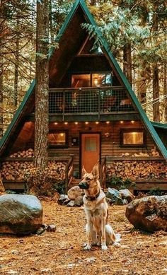 Architecture – Enjoy the Great Outdoors! Tiny House Cabin, Tiny House Design, Cabin Homes, Log Homes, Cozy House, Home Design, Tiny Homes, A Frame House Plans, A Frame Cabin