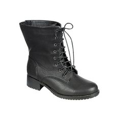 Women's Reneeze Alice-12 - Black Combat Boots ($36) ❤ liked on Polyvore featuring shoes, boots, ankle booties, ankle boots, black, black ankle boots, army combat boots, lace up ankle boots, faux suede lace-up booties and black bootie